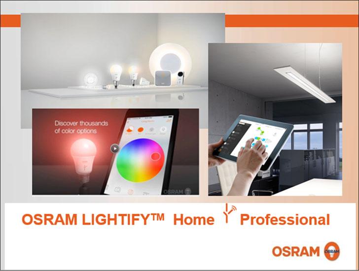 Imágenes corporativas del sistema de iluminación.