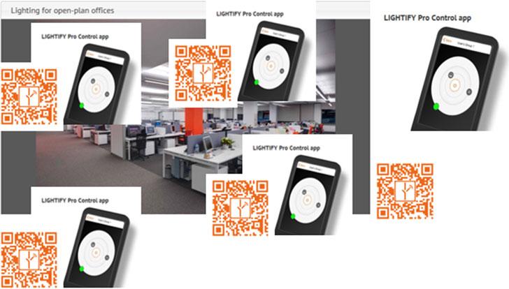 Códigos QR creados para el uso del usuario.