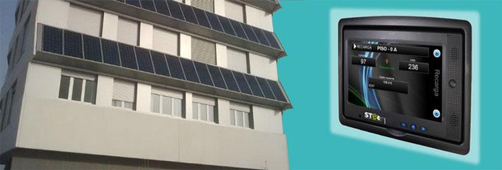 Edificio con sistema centralizado, con aporte fotovoltaico y solución Stechome (Vitoria).