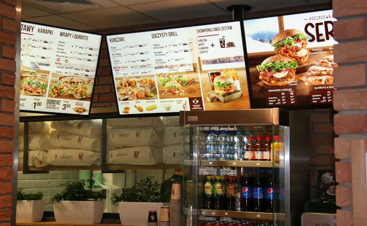 Cartelería digital Toshiba en KFC