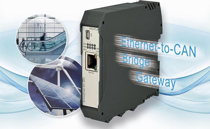 Pasarela IXXAT para conectar de CAN a Ethernet
