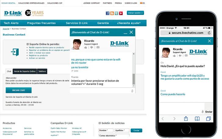 Chat de soporte técnico de D-Link
