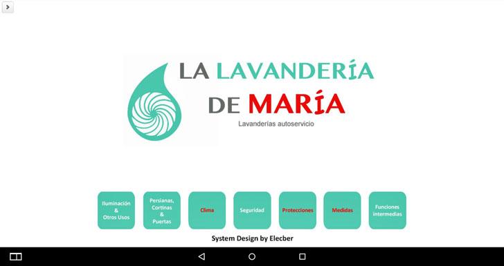 Interfaz de inicio para la Lavandería María