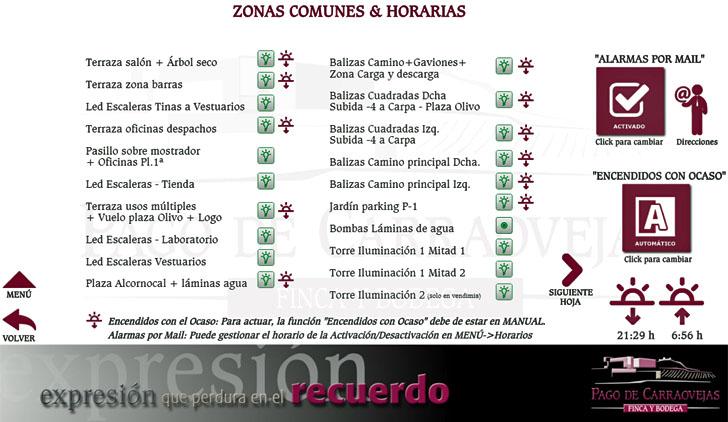 Gestión de zonas en la Bodega Pago de Carraovejas