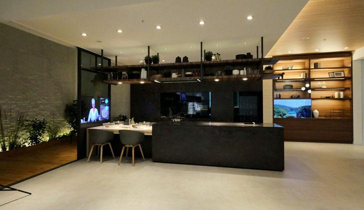 Combinación de cocina y salón de la Smart Home de Panasonic