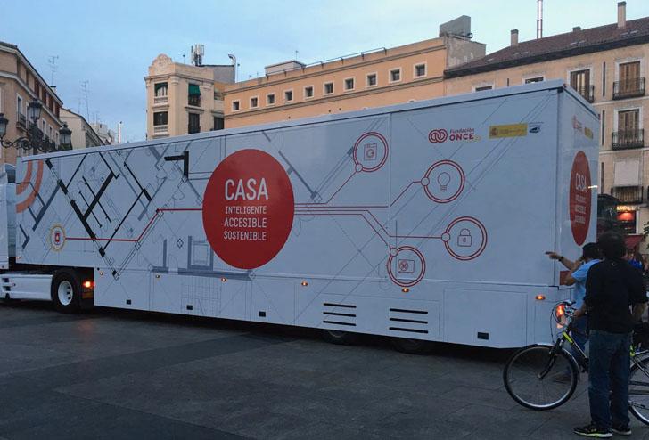 Casa inteligente y accesible de Fundación ONCE donde se han instalado dispositivos Entr de TESA