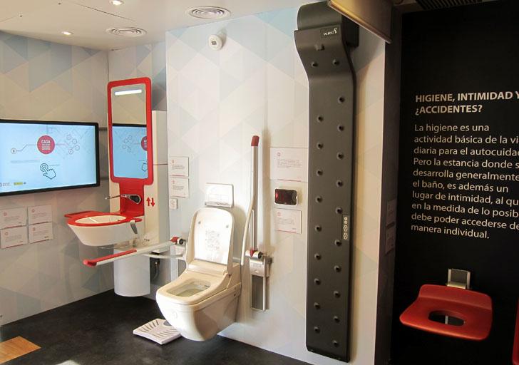 Baño de la Casa Inteligente y Accesible