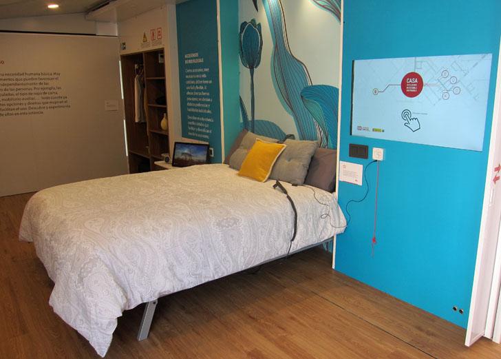 Dormitorio de la Casa Inteligente y Accesible