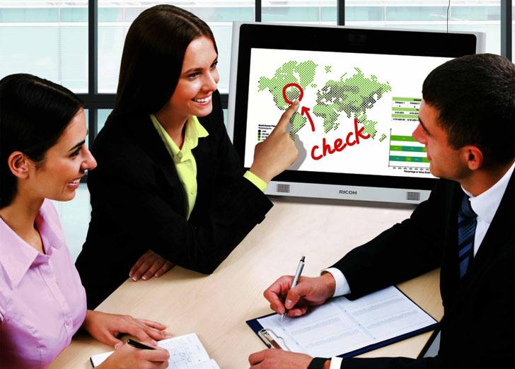 Pantalla interactiva para presentaciones Ricoh D2200
