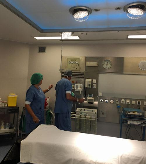 Iluminación hospitalaria de Luxiona