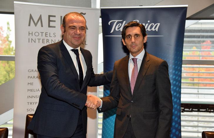 Acuerdo entre Telefónica y Meliá Hotels Internacional