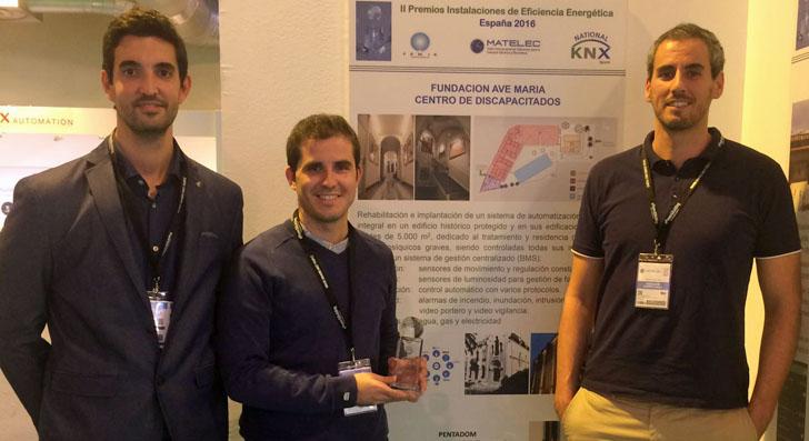 Entrega Premio Mejor Instalación Eficiencia Energética durante Matelec