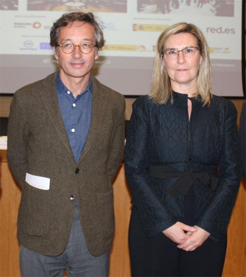 D. José María Lassalle, Secretario Estado para la Sociedad de la Información y la Agenda Digital, e Inés Leal, Directora III Congreso Ciudades Inteligentes