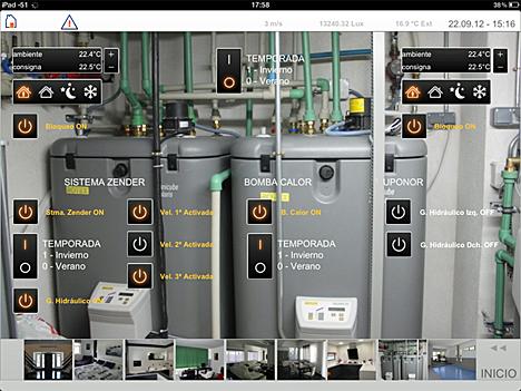 Control de la temperatura desde el iPad