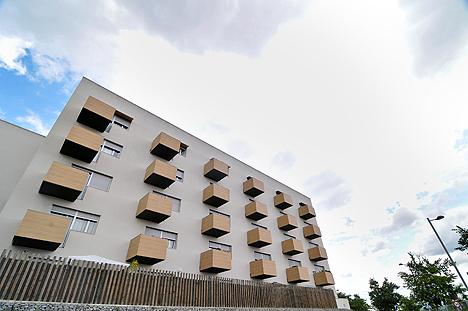 Uno de los edificios participantes de Sant Cugat del Vallés en el proyecto 3e-houses