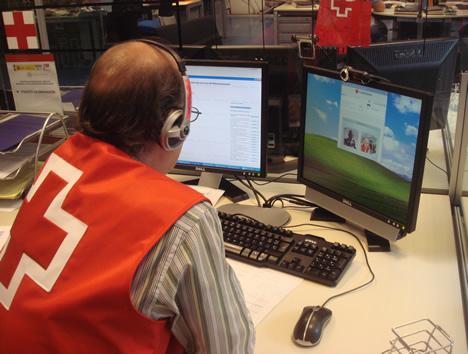 Asistente de Cruz Roja
