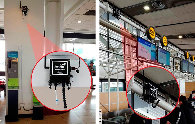Sensores IoT de Libellium en el aeropuerto de Chile