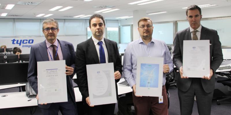 Responsables de la Central de Recepción de Alarmas (CRA) con las certificaciones oficiales obtenidas.
