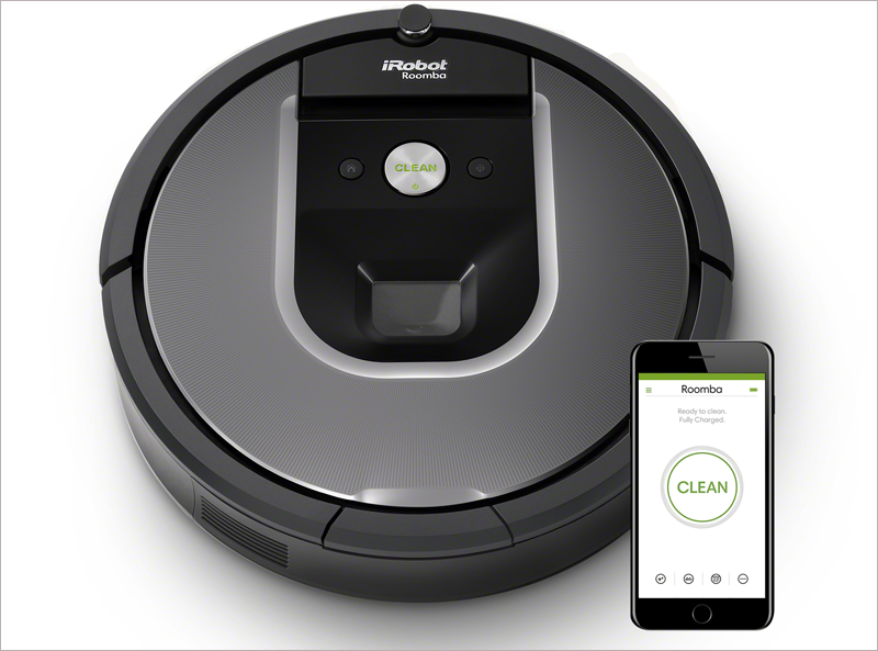 La aplicación iRobot para la serie de robot Roomba 900 incorpora mapas de zonas limpias y control por voz.