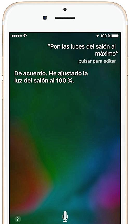 Control por voz de Siri