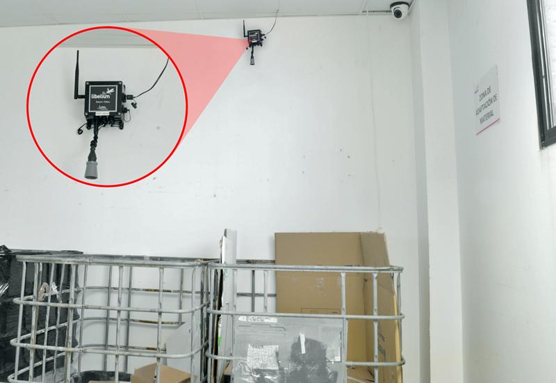 Sensor en el almacén de la sede de Libelium