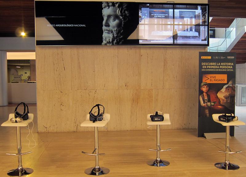 Videowall de señalización digital instalado en el Museo Arqueológico Nacional
