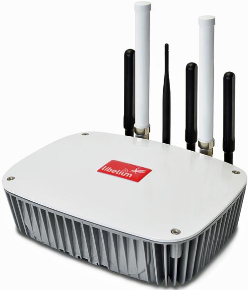 Router Meshlium de Libelium que se utiliza para detectar teléfonos móviles y dispositivos Blueetoth