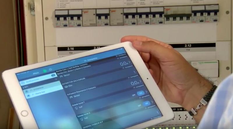 Monitorización de los equipos desde la Tablet