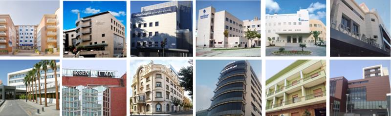 Figura 1. Los hospitales.