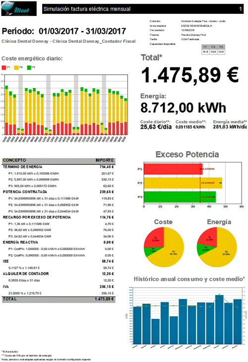 Figura 4. Simulación factura electrónica mensual.