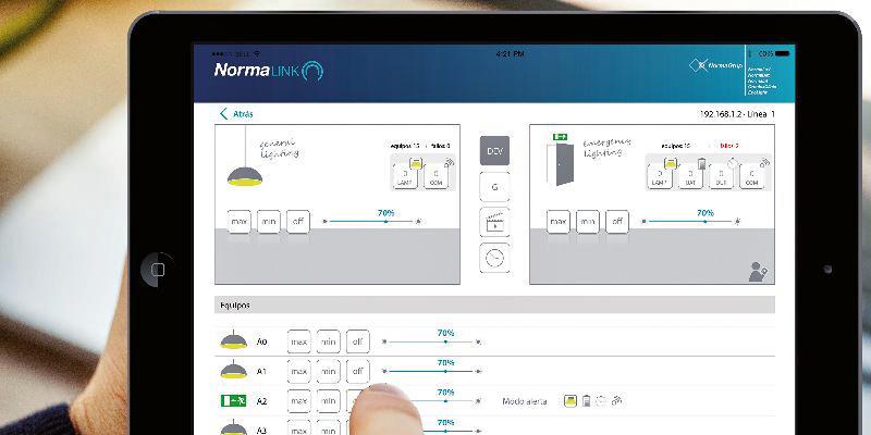 Normalink un sistema de control de iluminaci n dali de for Control de iluminacion domotica