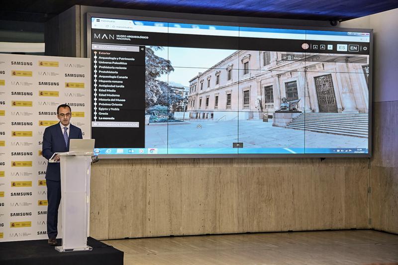 Presentación del proyecto de Samsung en el Museo Arqueológico Nacional