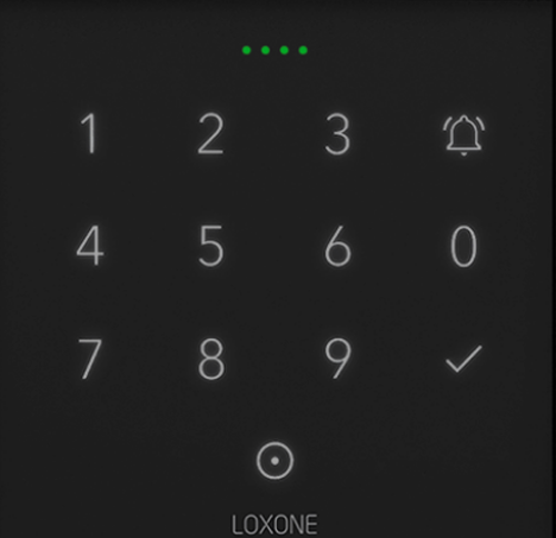Teclado NFC de Loxone