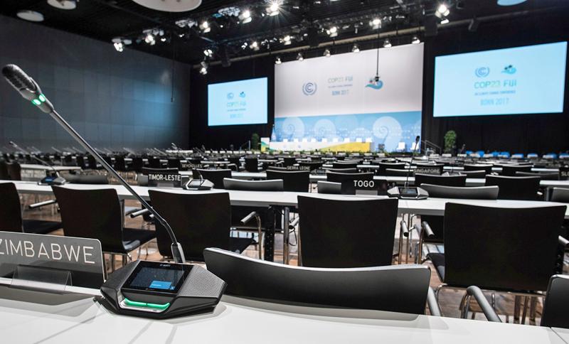 Sistema de conferencias de Bosch en la Cumbre Climática de la ONU