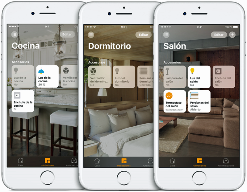 Apple HomeKit en un iPhone