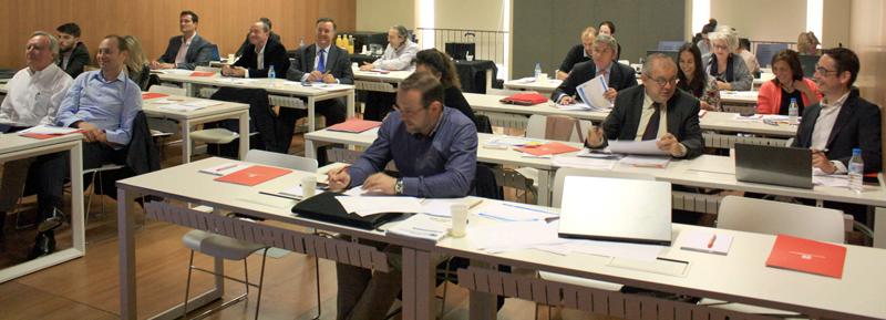 Miembros del Comité Técnico trabajando