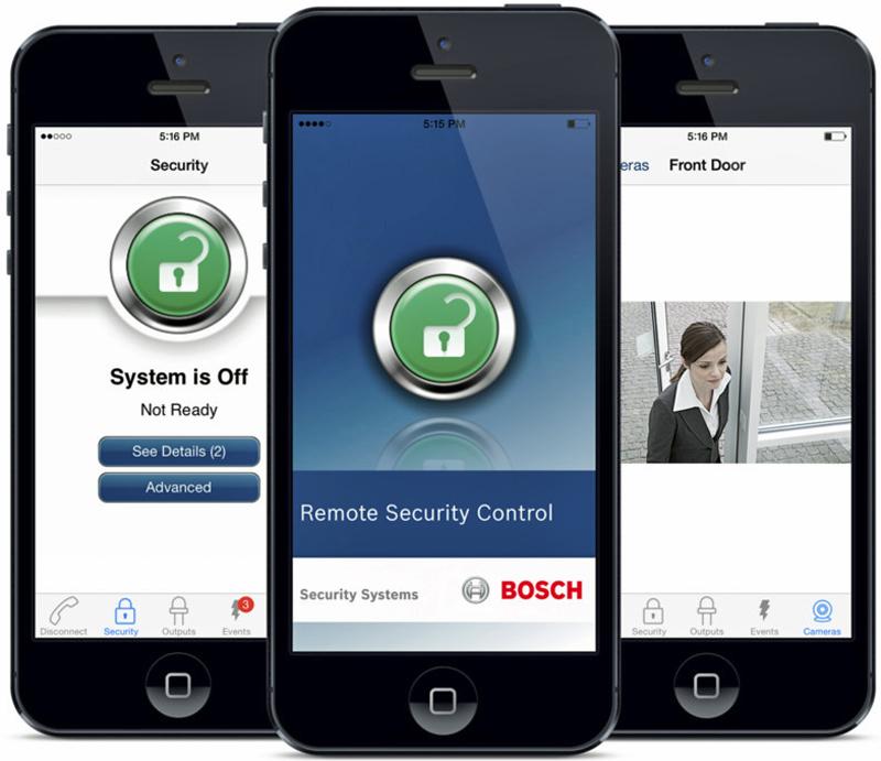 App Bosch Remote Security Control+