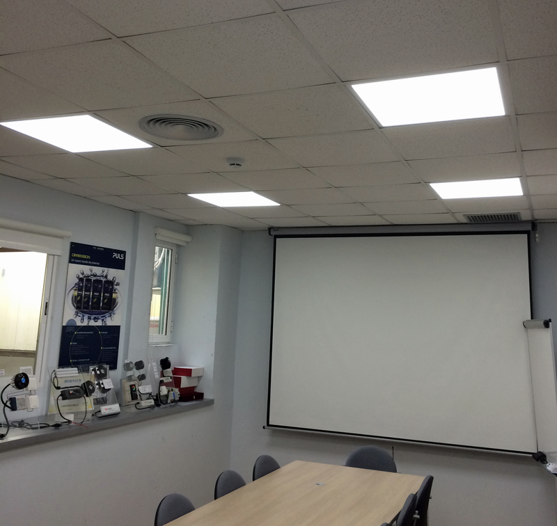 Oficinas OLFER iluminadas con LED, EnOcean y Mean Well