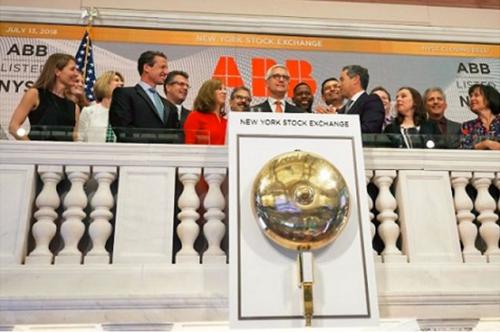 ABB en la Bolsa de Nueva York