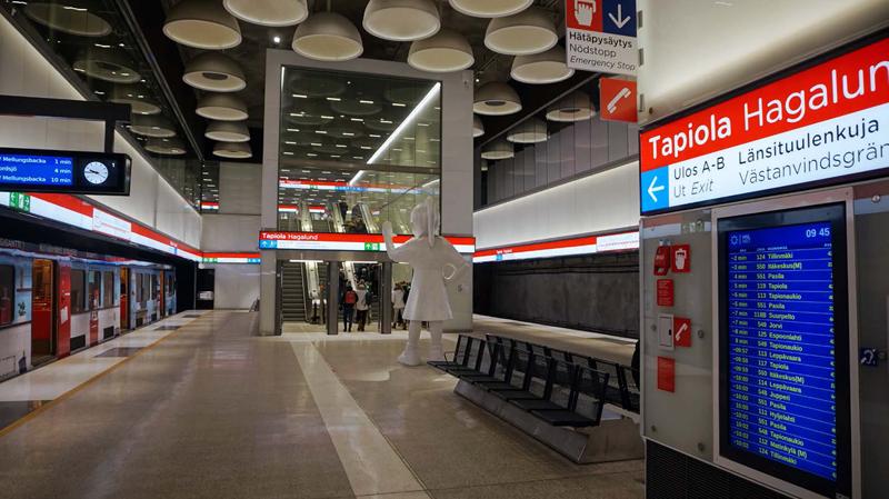 Metro de Helsinki dotado de megafonía y evacuación por voz de Bosch