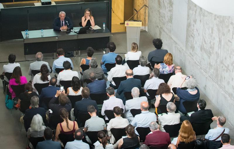 Aforo completo en la Jornada de presentación del V Congreso de Edificios de Energía Casi Nula en el Ministerio de Fomento.