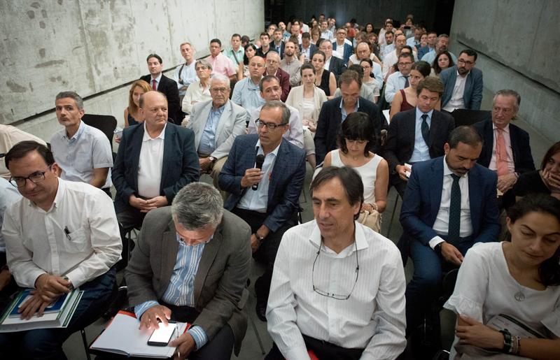 Participación de asistentes en la Presentación del V Congreso de Edificios de Energía Casi Nula en el Ministerio de Fomento.
