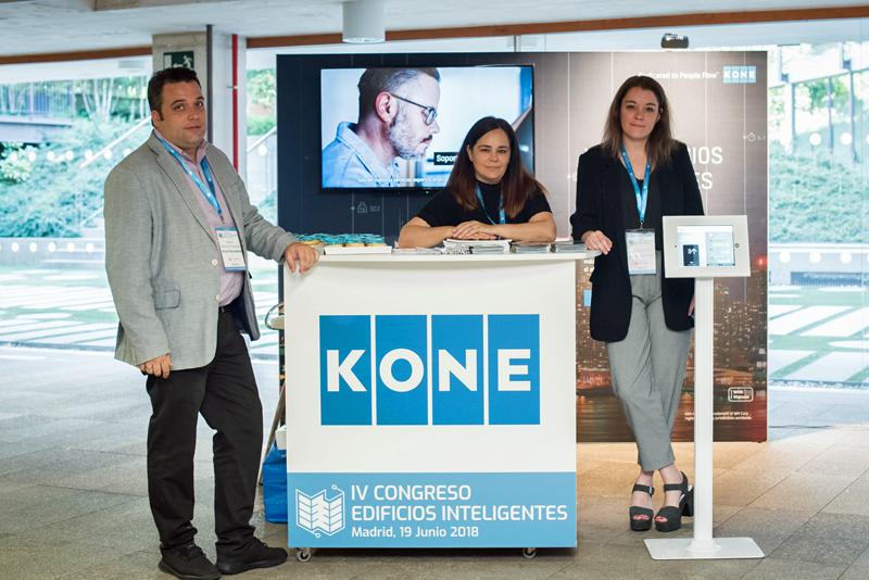 Stand de KONE en el IV Congreso Edificios Inteligentes