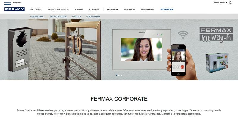 Nueva imagen de la página web de Fermax