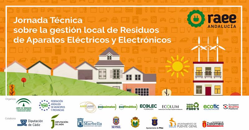 Cartel de presentación de las jornadss técnicas para la gestión de residuos
