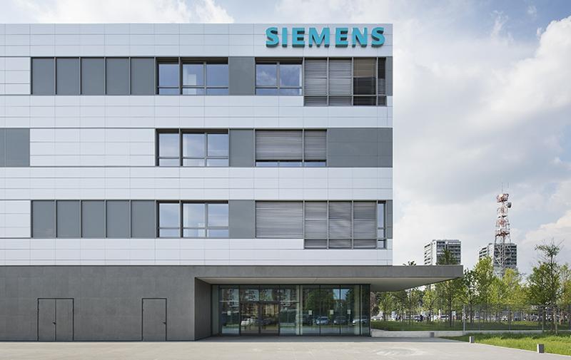 La Sede Siemens en Milán en su contexto urbano.