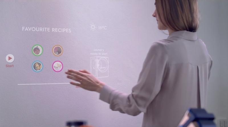 Pantallazo del vídeo conceptual de Electrolux Design donde muestra su visión del hogar inteligente del futuro.