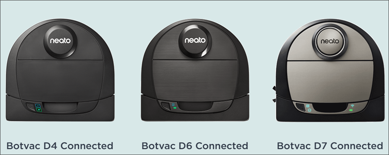 Botvac D4 y D6 Connected, y Botvac D7 Connected