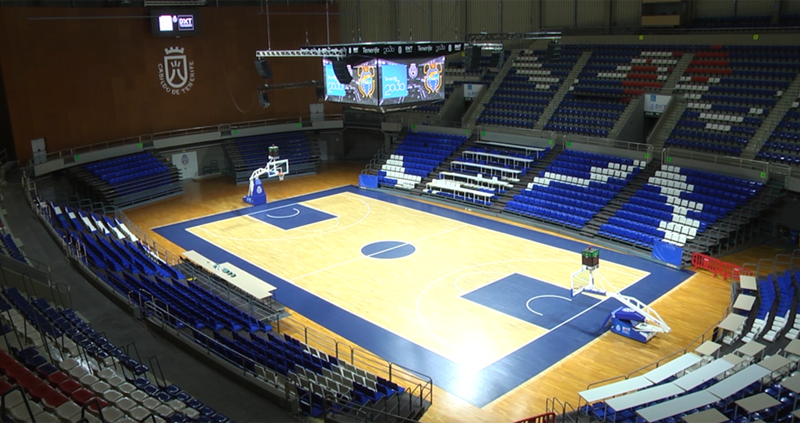 Signify instala su solución Interact Sport en el Pabellón de Deportes de Tenerife Santiago Martín.