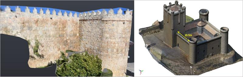 Figura 3. Nube de puntos de uno de los muros del Castillo.